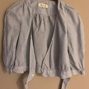 Madewell cotton wrap top
